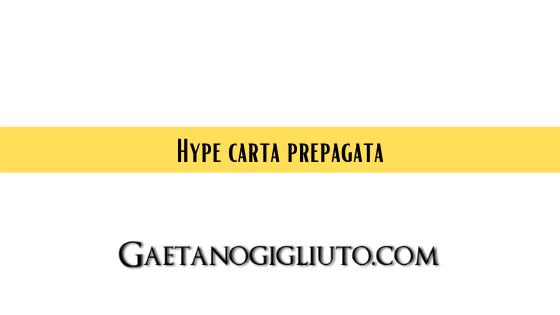 Hype carta prepagata