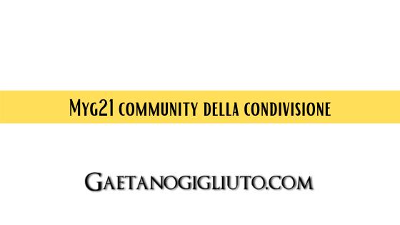 Myg21 community della condivisione